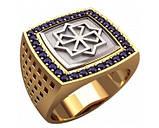 Кольцо серебряное Молвинец с камнями 30335, фото 2
