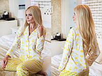 Осенняя пижама с желтым царским принтом