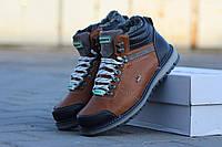 Мужские зимние ботинки Lacoste кожаные
