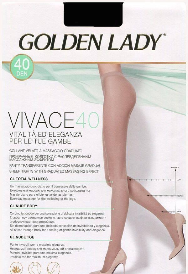 Колготки GOLDEN LADY VIVACE 40 2 (S), NERO (черный), 40
