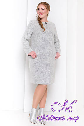 Шерстяное осеннее пальто большого размера (р. XL, XXL, XXXL) арт. Фортуна 3377 - 17325, фото 2
