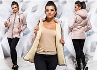 Элегантная куртка зимняя большого размера женское