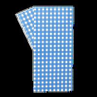 "Бумага упаковочная ""Гамбургер"" 320*320 100шт Голубая клетка (314)"