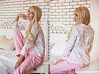 Пижама со штаниками с розовым узором
