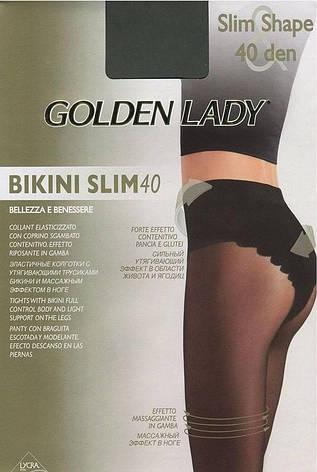 Колготки GOLDEN LADY BIKINI SLIM 40 2 (S), DAINO (легкий загар), 40, фото 2