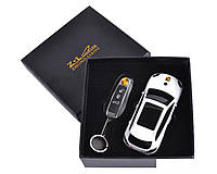 Сувенирная зажигалка + зажигалка-брелок Porsche Cayenne Белый