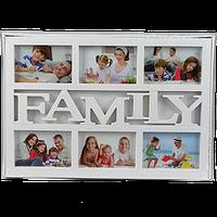 Мультирамка для семьи с надписью на 6 фотографий