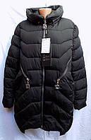 Женская длинная куртка фабричный Китай батал оптом 9908, фото 1