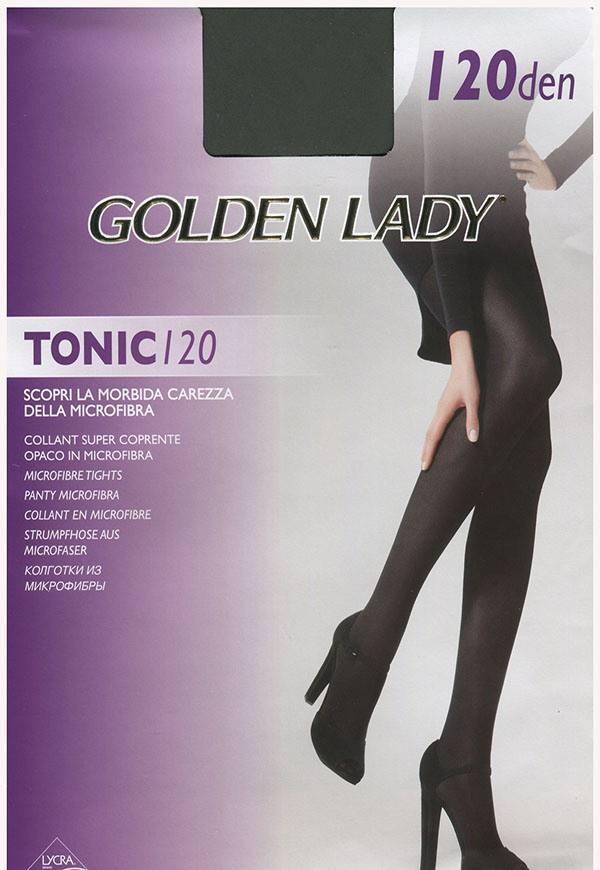 Колготки GOLDEN LADY TONIC 120 3 (M), NERO (черный), 120