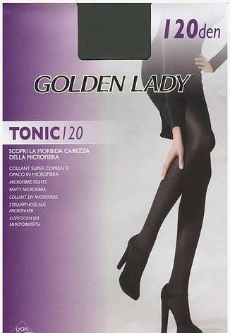 Колготки GOLDEN LADY TONIC 120 3 (M), NERO (черный), 120, фото 2