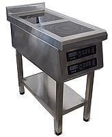 Плита индукционнаяТehma  2-конфорочная  3,5 Квт (400х800мм)