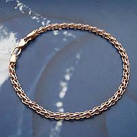 Серебряный позолоченный браслет, 195мм, 5 грамм, плетение Ручей