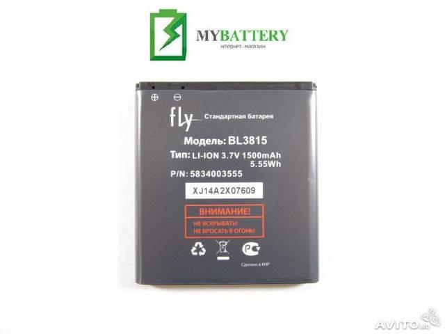 Оригинальный аккумулятор АКБ батарея Fly BL3815, IQ4407