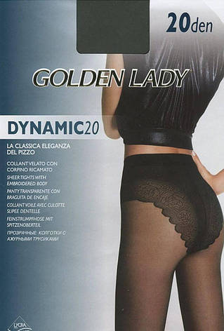 Колготки GOLDEN LADY DYNAMIC 20 2 (S), DAINO (легкий загар), 20, фото 2