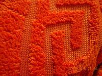 Махровая простыня Версаче 200*220. Апельсиновая.