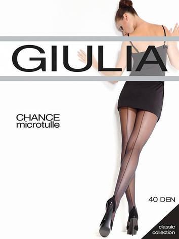 Колготки GIULIA CHANCE MICROTULLE 40 3 (M), NERO (черный), 40, фото 2