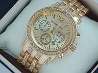 Женские наручные часы копия Michael Kors золото с золотым циферблатом, премиум качество