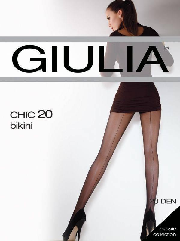 Колготки GIULIA CHIC 20 BIKINI 2 (S), 20, VISONE