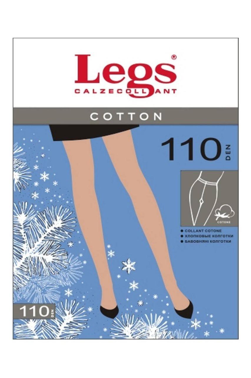 Колготки LEGS COTTON 110 3 (M), ANTRACITE (тёмно-серый), 110