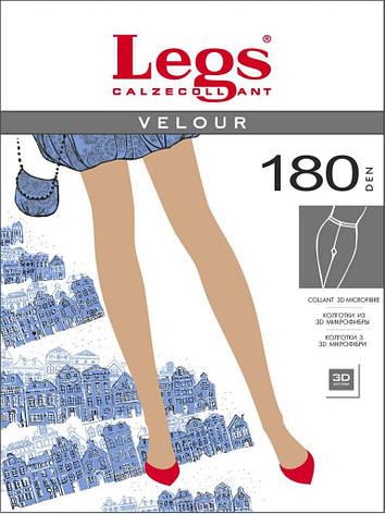 Колготки LEGS VELOUR 180 3 (M), ANTRACITE (тёмно-серый), 180, фото 2