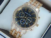 Жіночі наручні годинники копія Michael Kors золото з чорним циферблатом, преміум якість, фото 1