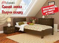 Кровать деревянная Венеция Люкс из натурального Бука односпальная, фото 1