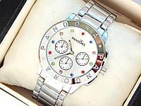 Женские кварцевые наручные часы Pandora с разноцветными стразами, фото 1