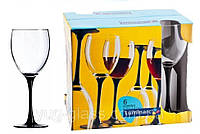 "Набор бокалов для вина 250 мл Domino""H8169"" Luminarc 6 шт."