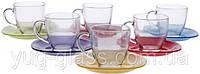 """Набор 12 предметный чайный Carina Rainbow """"J5978""""."""