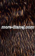 Мех искусственный Енот оранжево-коричневый, ворс-60мм.