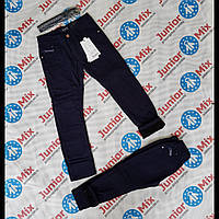Теплые детские котоновые брюки для мальчиков  синего и черного цвета SEAGULL оптом
