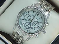 Женские наручные часы копия Michael Kors серебро с перламутровым циферблатом, премиум качество, фото 1