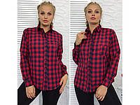Женская рубашка в клетку New БАТАЛ