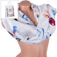 Женский атласный шарф 180 на 70 см eterno (ЭТЕРНО) es1908-14-3