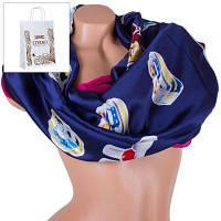 Женский атласный шарф eterno es1908-14-2 абстракция 180х70 см
