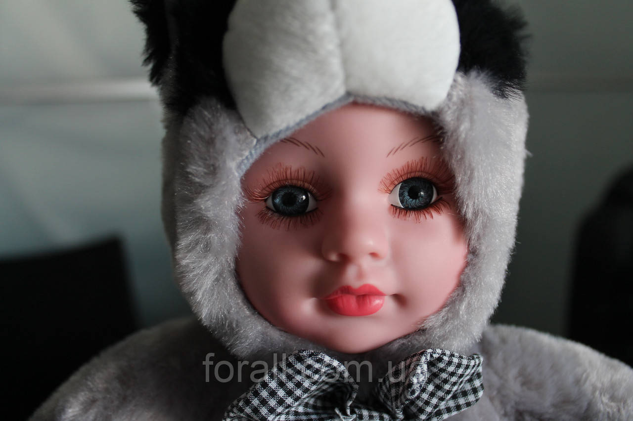 Куклы пупсы аналог Анне Геддес Anne Geddes Енот 27см. музыкальная