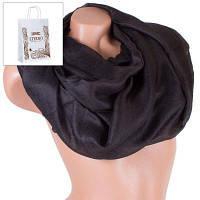 Женский шарф из вискозы 184 на 102 см eterno es1908-8-5 черный с отливом