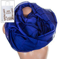 Женский шифоновый шарф 200 на 140 см eterno es1908-7-2 темно-синий