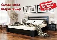 Кровать из дерева с подъемным механизмом Селена из натурального Бука полуторная