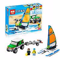 Конструктор Lepin серия Cities 02027 Внедорожник с прицепом для катамарана (аналог Lego City 60149)