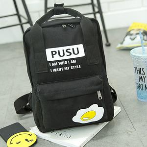 Модная сумка-рюкзак с яичницей