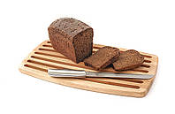 Кухонная доска для нарезки хлеба, с канавками. Натуральное дерево.