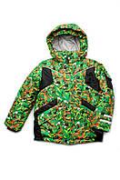 Зимняя куртка для мальчика 4-7 лет, зеленая
