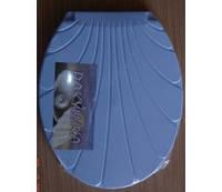 Крышка для унитаза голубая