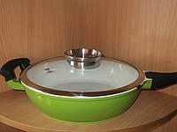 Сковородка керамическая швейцария  диаметр 28см