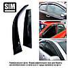 Ветровики (дефлектора окон) AUDI A6/S6, SD, 2011-, 4ч., темный