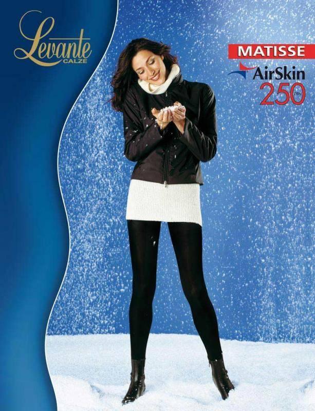 Колготки Levante Matisse 250 XL 5 (XL), NERO (черный), 250