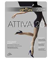 Колготки OMSA attiva 20 4 (L) 20 FUMO (серый)