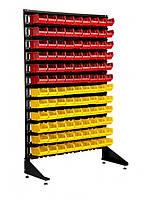 Односторонний стеллаж с ящиками для метизов 108 шт