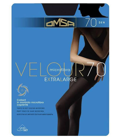 Колготки OMSA velour 70 xl 5 (XL), NERO (черный), 70, фото 2